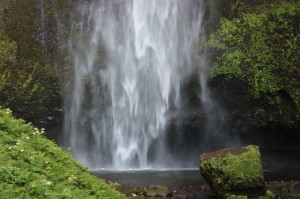 Surprising treasures, like Multnomah Falls, can suddenly appear on the side of the road (Bob Sullivan).