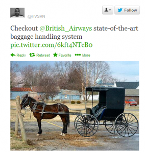 Hasan Syed's displayed wry wit while complaining about British Airways on Twitter.