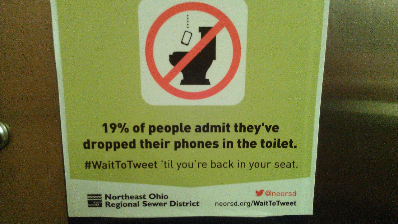In a bathroom  somewhere  By Bob Sullivan  guilty of using cameraphone in  bathroom. Just how many people have dropped their phone in the toilet  Why