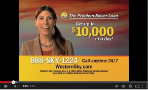This ad for an online payday lender, once ubiquitous, is off the air for now.