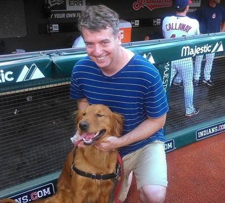 Rusty and I ended up on  the field with the Cleveland Indians last year.