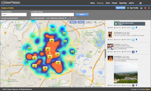 SnapTrends heat-map view