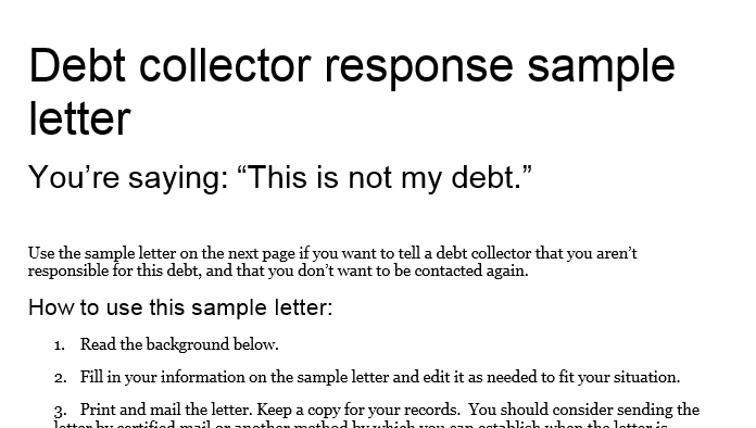 Dealing with debt collectors: A simple Do's and Don'ts list ...