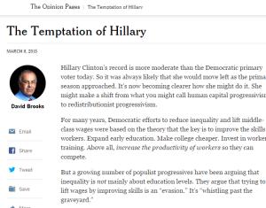 Click to read David Brooks column. (Paywall)