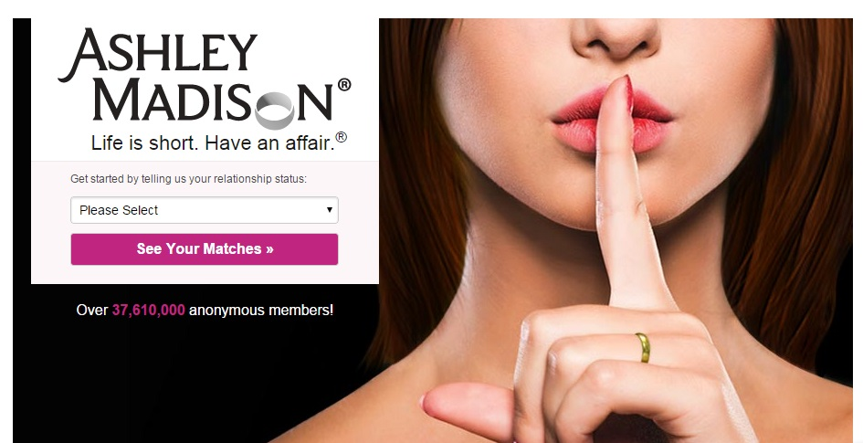 Ashley Madison website.