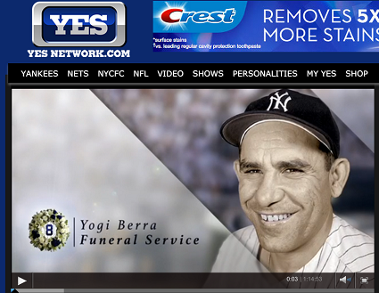 Click to watch Yogi's funeral on Yes
