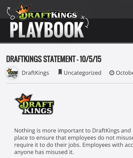 Click for the DraftKings statement
