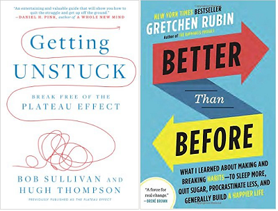 Two books that might help you stay on track this year. If you haven't read anything  by my friend Gretchen Rubin, you are missing out.  There's a free offer below.