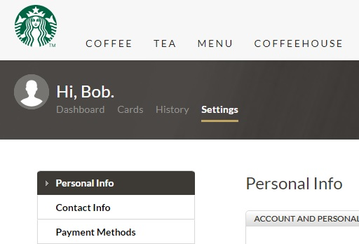 how to change starbucks account email